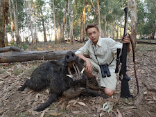 Young Mr Leserer, Germany, with a great tusker hunted with Australia Wide Safaris