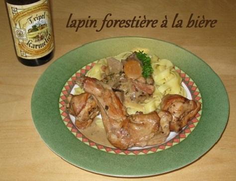 recette du lapin forestière à la bière