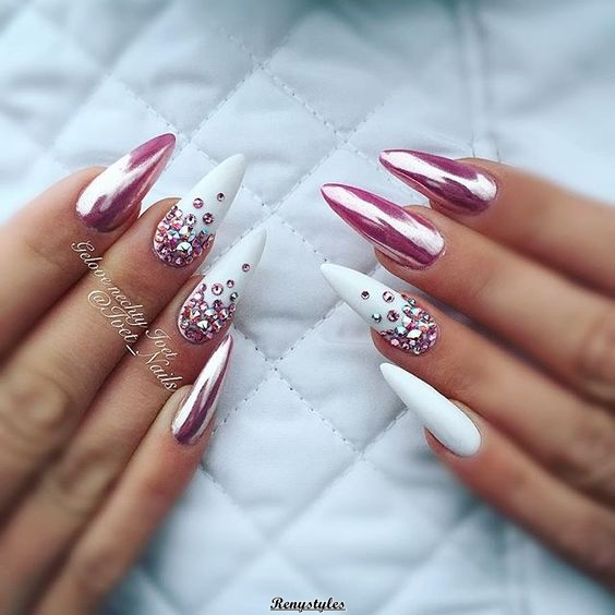 Beautiful And Easy Metallic Nail Art