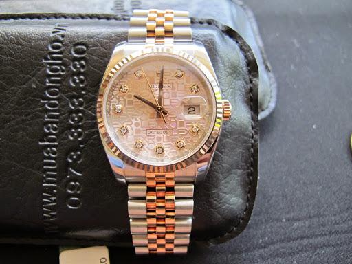Bán đồng hồ rolex datejust 6 số 116231 – mặt vi tính xoàn – đè mi vàng hồng – size 36mm