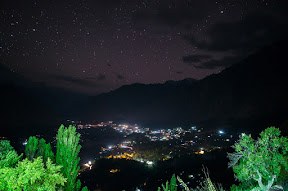 Hunza valley after it gets dark