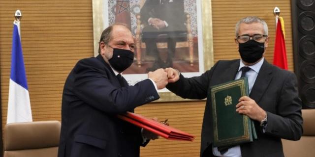 """Confidencial: El Ministro de Justicia francés """"al servicio"""" de Marruecos en el caso Pegasus."""