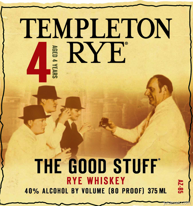 Templeton The Good Stuff 4-Year Rye Whiskey
