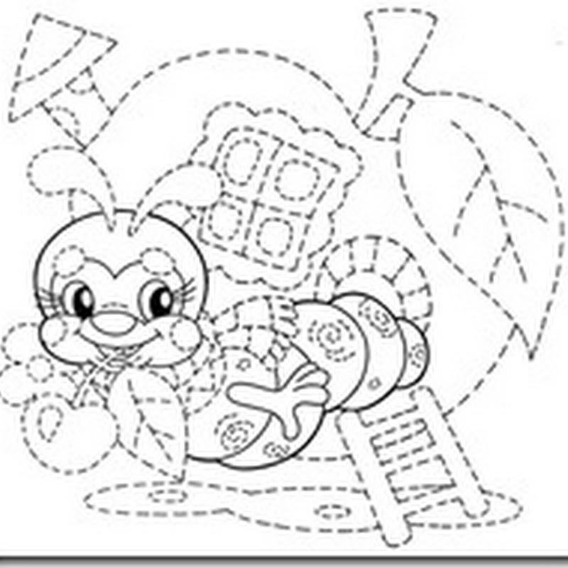 Completar el dibujo repasando rayas