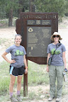 Paseo del Lobo Section 26 hikers make it to the Arizona Trail!  (Photo by D. Sayre)