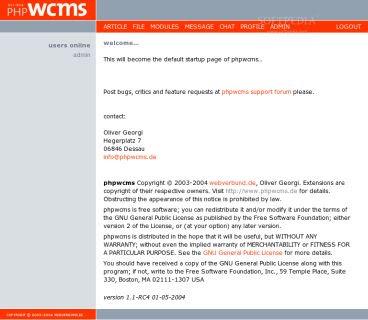 Phpwcms Free CMS Script