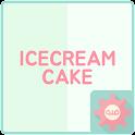 아이스크림케이크 (청포도) - 카카오톡 테마 icon