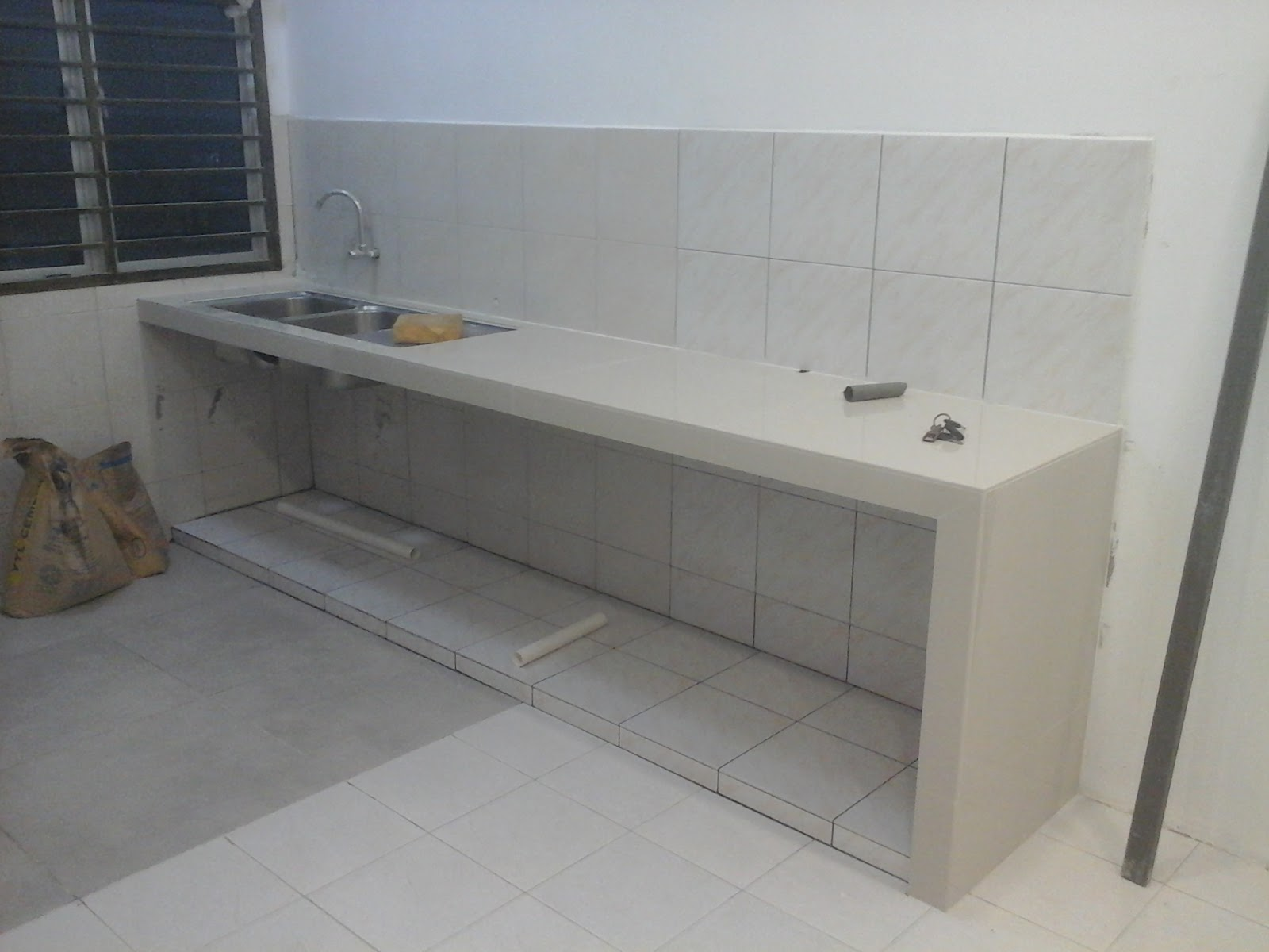 Meja dapur konkrit table top concrete di sepang for Pemasangan kitchen set