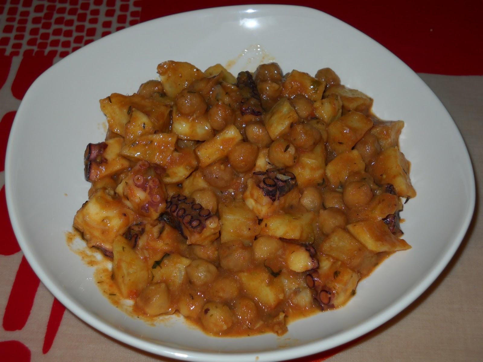 Aprendiendo a cocinar cosillas de guancheloco ropa for Cocinar pulpo