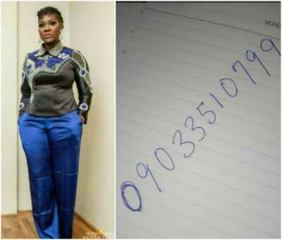 All you need to know about the strange number that called Mercy Jonhson yesterday (Details)