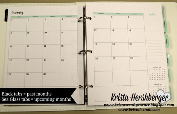 2017 Planner - monthly calendar DSC_3116
