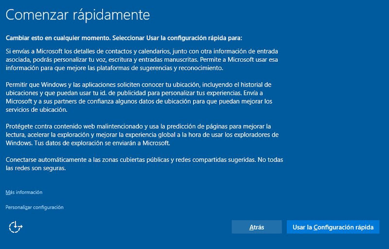 Instalar sistema operativo Microsoft Windows 10 en equipo nuevo