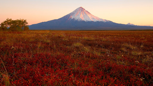 Kronotsky Volcano at Sunset, Kamchatka, Russia.jpg