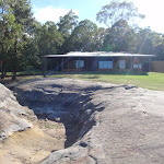 Looking across Honeman's Rock to the Mud Brick Building (233193)