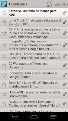 InoReader. Publicada la primera versión para Android