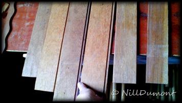 Painel com fotos e luminárias - 08-B- Início e Montagem