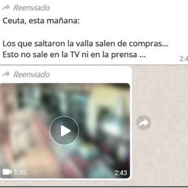 El falso video de Ceuta con inmigrantes que roban
