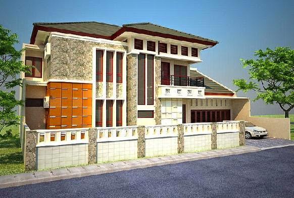 contoh model rumah modern gallery taman minimalis