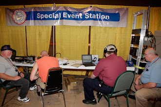 Photo: The special event station sponsored by the Dayton Amateur Radio Association and running under the callsign of W8BI.