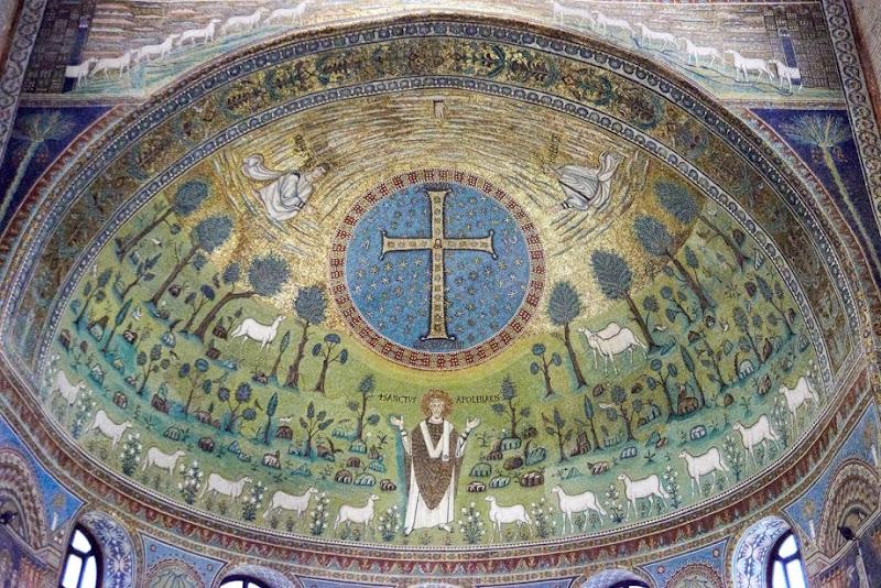 51. The Apse Mosaic. VI Century. The Basilica of Sant' Apollinare in Classe. Ravenna. 2013