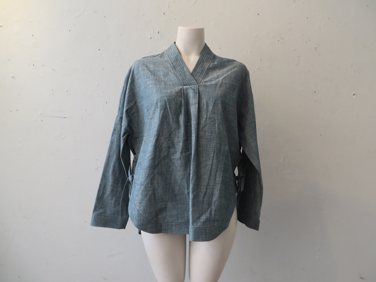 Adam Lippes Chambray Blouse