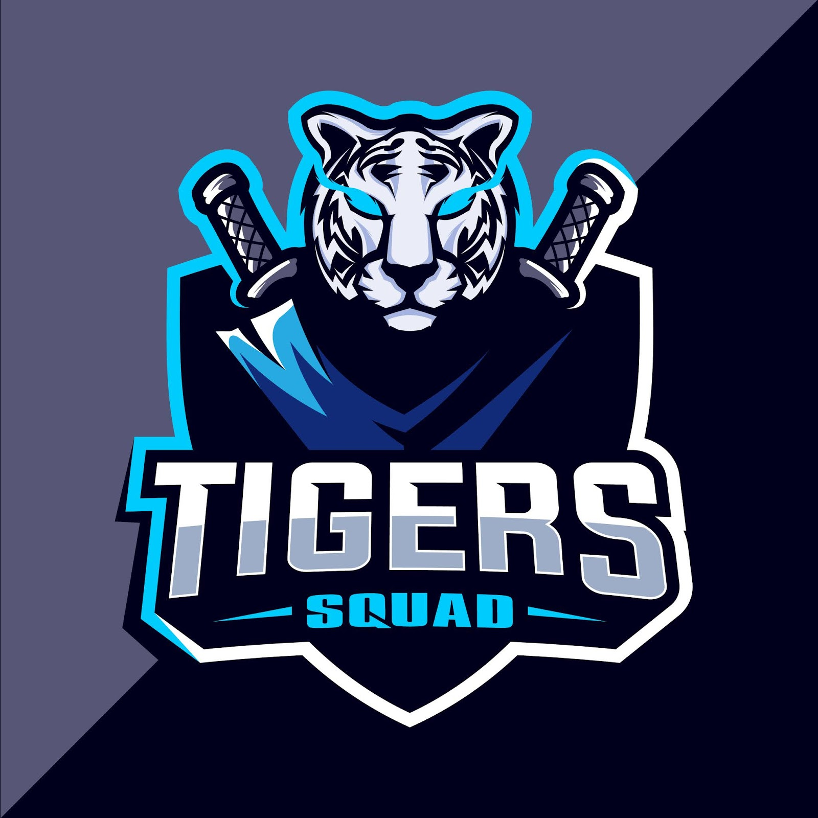 Tiger Mascot Esport Logo Free Download Vector CDR, AI, EPS and PNG Formats