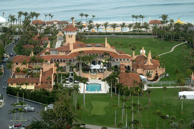 Aerial view of Mar-a-Lago, the estate of Donald Trump, in Palm Beach, Florida. Photo: New York Daily News / Getty Images