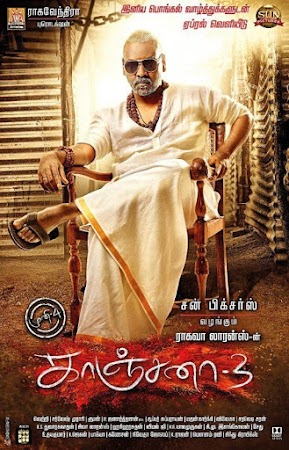 Poster Of Free Download Kanchana 3 2019 300MB Full Movie Hindi Dubbed 720P Bluray HD HEVC Small Size Pc Movie Only At worldfree4u.com