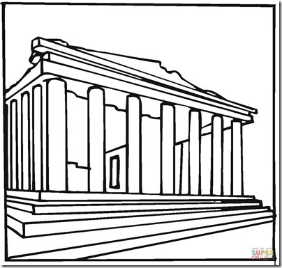 parthenon-greece-coloring-page