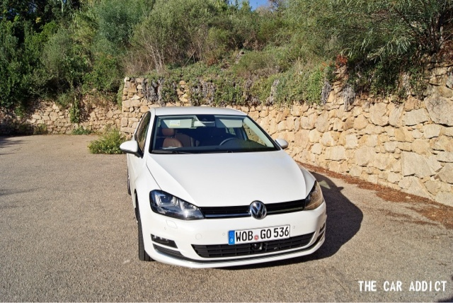 white Volkswagen Golf 7