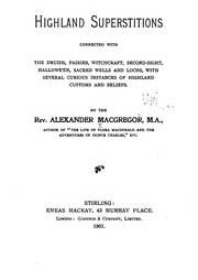 Cover of Alexander Macgregor's Book Highland Superstitions Connected With the Druids Fairies Witchcraft OCR Version