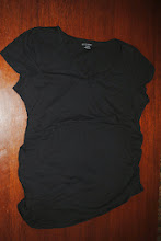 Photo: Side Ruched Motherhood Maternity Tee in Black. V Neck. Size XL worn Twice $5