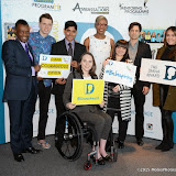 OIC - ENTSIMAGES.COM - David Grant, Gandy brother Paul Forkan, Ammaar, Laureen Rowles, Tessy Ojo, Anita Dennison, Adam Garcia  and Lola Saunders at the National Diana Award - photo call / ceremony in London 10th March 2015  Photo Mobis Photos/OIC 0203 174 1069