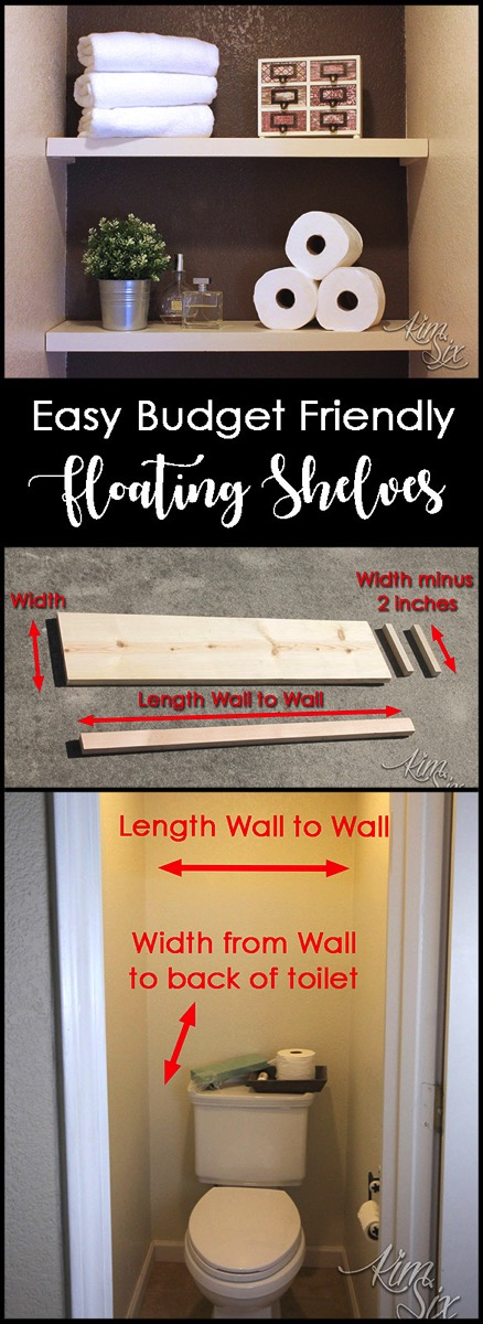 How to Install floating shelves on a budget