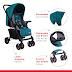 Trots Stroller - Reversible Handle for 0-36 Months Stroller (Dark Cyan)