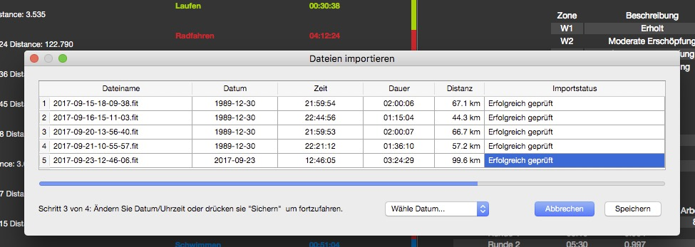 Problem with Date and Time while importing ZWIFT Files into Golden