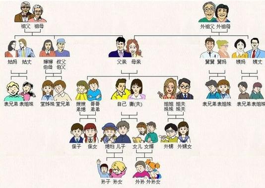 中國人親戚關係圖表