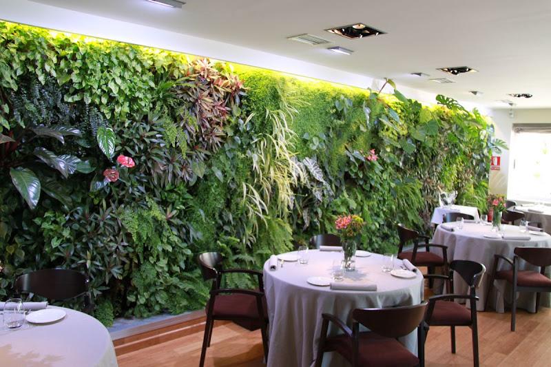 fachada vegetal de interior