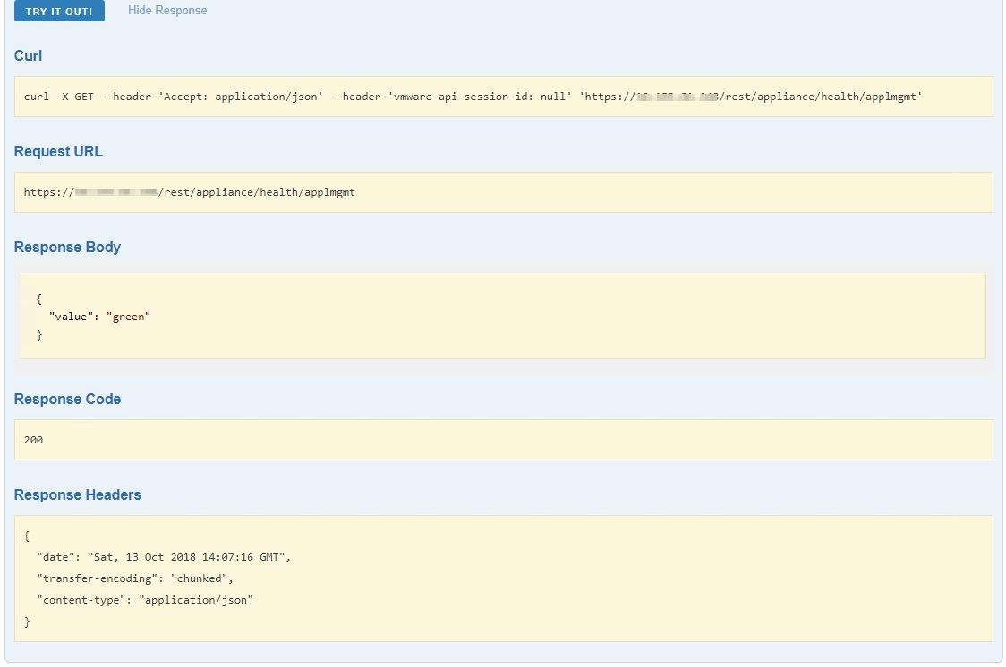 vCenter 6 5 Health Rest API   Fdo's Workspace