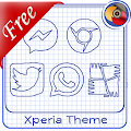 Sheet of notebook | Xperia™ Theme + icons APK