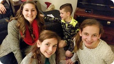 Hurley Christmas 2015:Caroline Fairfax, Lila Chamberlain, Jude Chamberlain, Ava Chamberlain