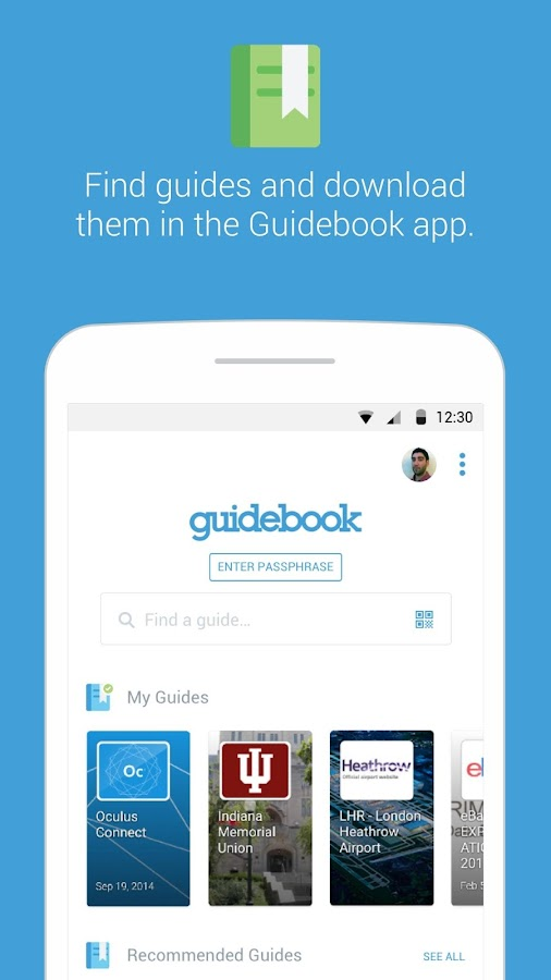 Guidebook- screenshot