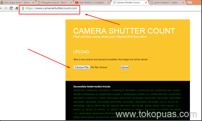 cara check shutter count camera dslr