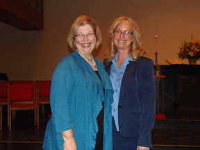 Georgia and Brooke, two of the three daughters of Tavia and George Wyatt.  Susan could not come to the celebration.