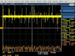 Low frequency oscilloscope trace from KMS charger