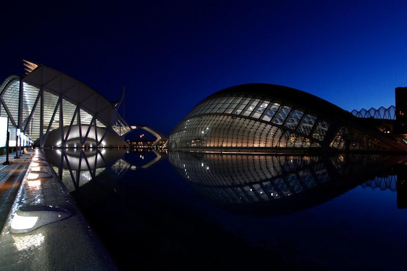 Ciudad de las artes y de las ciencias (vista nocturna)