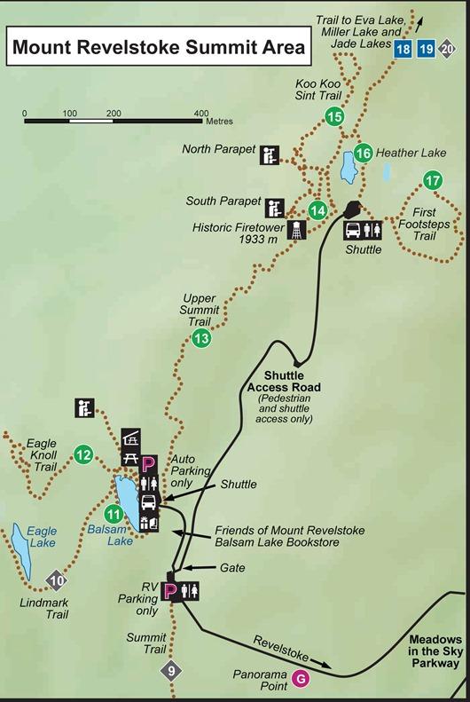 Mount Revelstoke Hiking Map English June 15 2012 Zuzana.indd