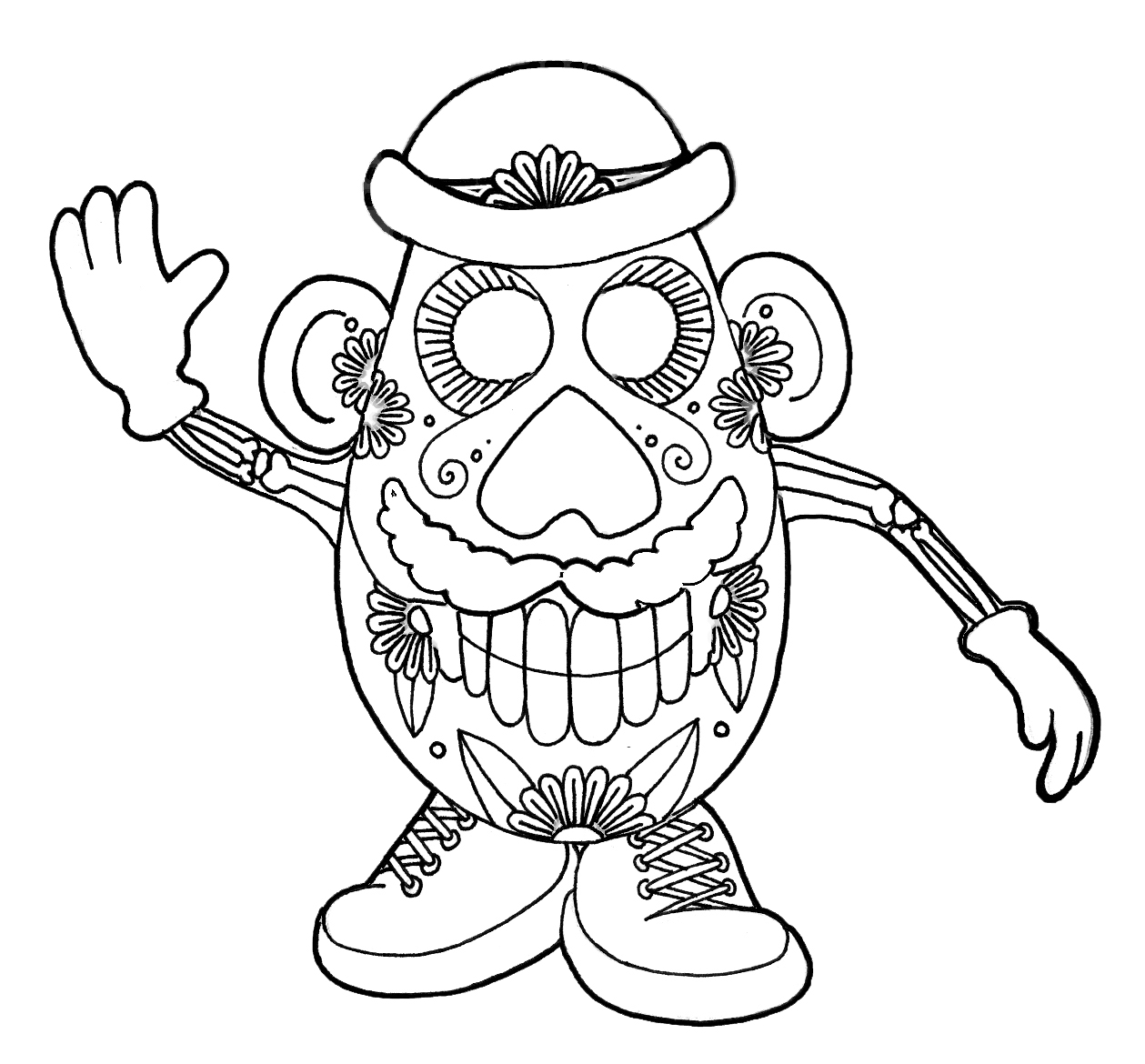 Coloring Pages For Kids Cartoon Skulls Sheets