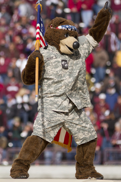 Monte Getting Patriotic!  Photo by Austin Smith.