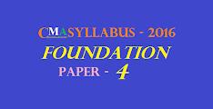 CMA Foundation Syllabus 2016 (Paper 4): Fundamentals of Business Mathematics and Statistics